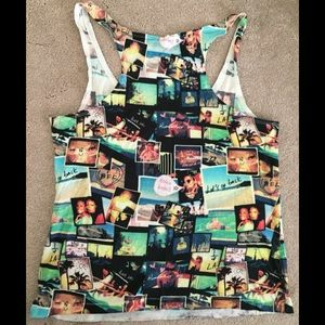 Divided Tops - Divided by H&M BFF photo collage cotton tank top