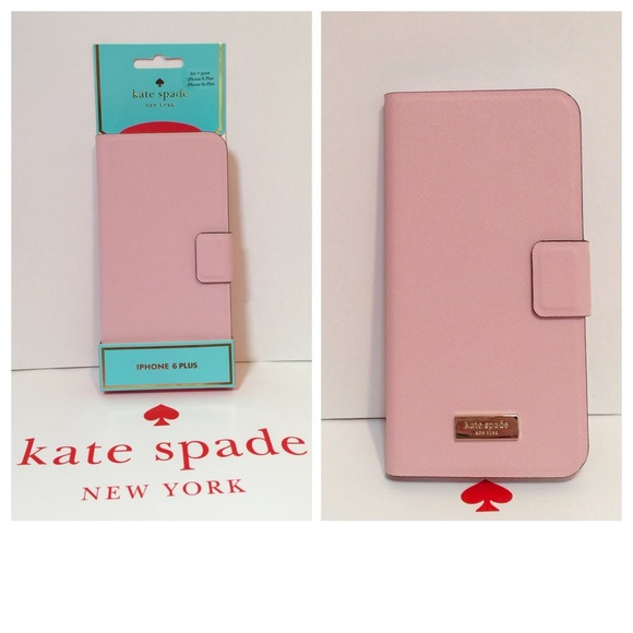 best website 5a328 39cd4 New Kate Spade iPhone 6 plus leather folio case NWT