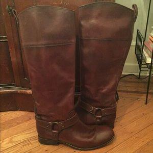 Frye Shoes - FRYE Melissa Harness Inside Zip - REDWOOD