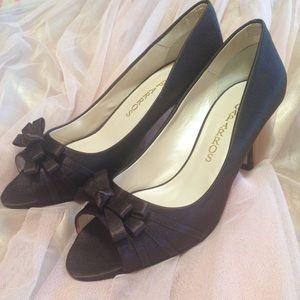 Caparros Shoes - NWT Caparros Violetta Brown Satin Heels