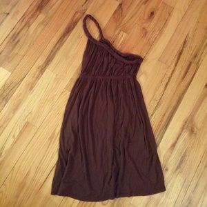 LAST DAY. One shoulder chocolate brown dress