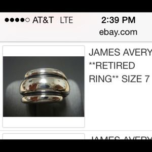 James Avery Jewelry - New James Avery 6.5 retired ring