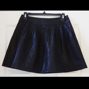 Black textured flared skater skirt by Forever 21 S