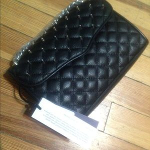 Rebecca Minkoff Quilted Mini affair with studs NWT