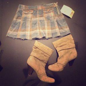 Dresses & Skirts - Plaid Corduroy Mini Skirt with tags