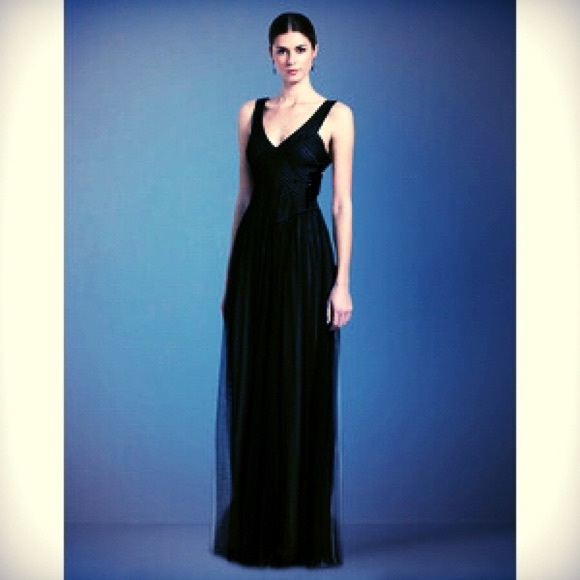 BCBGMaxAzria Dresses | Sale Black Long Gown Dress | Poshmark