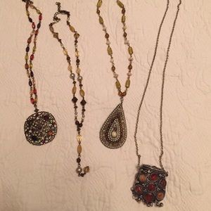 Bohemian inspired set of necklaces