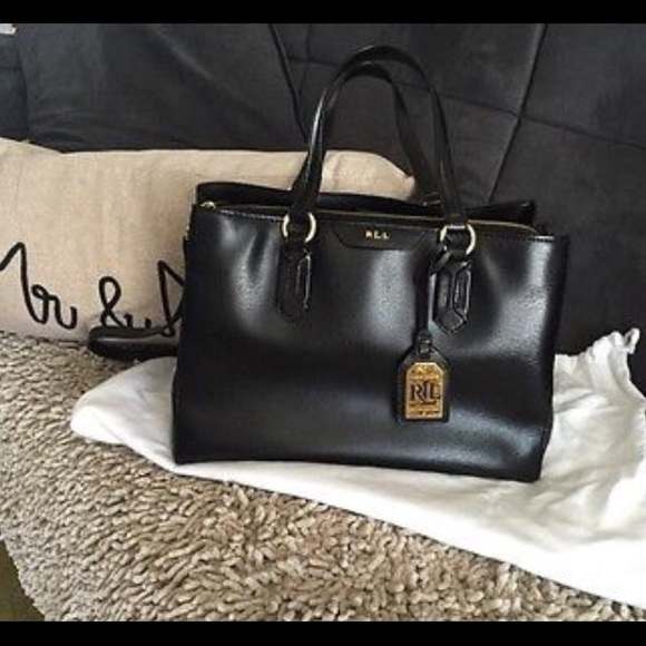 9904e8673a99 Beautiful Ralph Lauren Tate center zip satchel bag.  M 570f9c0d4225befb22001534