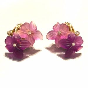 Dior violet vintage earrings