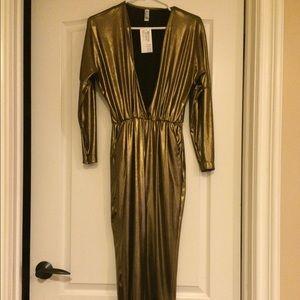 135e8d8f3d22 American Apparel Pants - Metallic Gold Jumpsuit