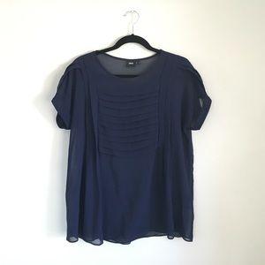Navy blue sheer shirt from Asos