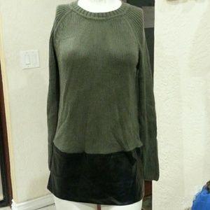 yoon Sweaters - Yoon faux leather sweater