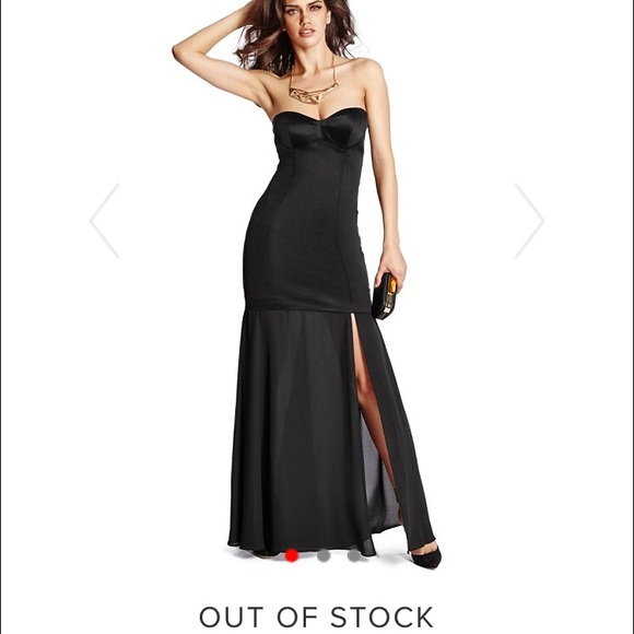 Marciano Dresses   Black Corset Gown   Poshmark
