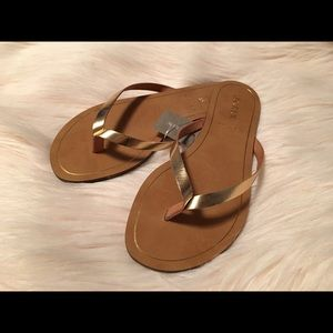 NWT J. Crew Gold Leather Sandals