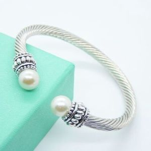 Boutique Jewelry - Silver Pearl Cable Bracelet