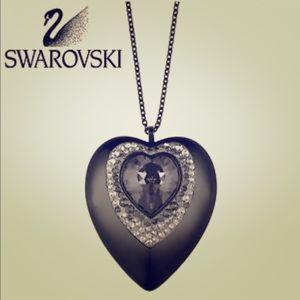 Swarovski Adorn Heart USB Pendant, Silver Night