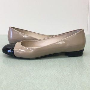 LK Bennett Shoes - LK Bennett flats: nude/ black patent leather 8.5