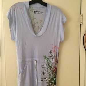 Tunic top with embellishment