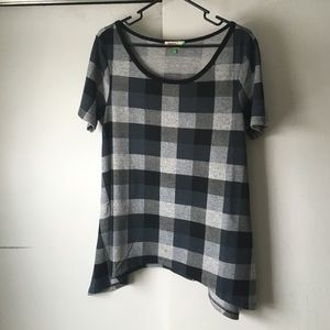 ModCloth Tops - Modcloth Grey Plaid Swing Shirt