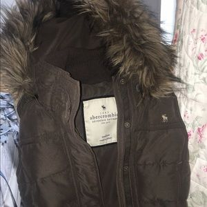 Abercrombie & Fitch Brown Vest