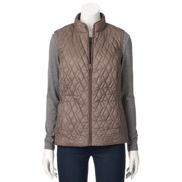 78% off Croft & Barrow Jackets & Blazers - Women's Croft & Barrow ... : croft and barrow quilted vest - Adamdwight.com