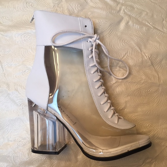 3c68b880112 Jeffrey Campbell Courage White Booties
