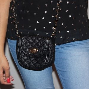 Mini Quilted Crossbody Bag