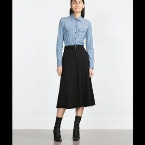 Zara Dresses & Skirts - ZARA SKIRT/POCKETS/ exposed ZIPPER