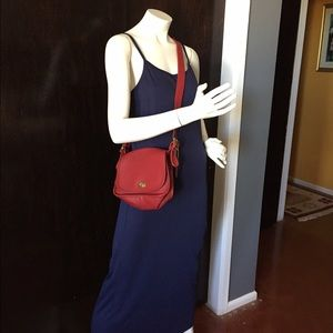 Vintage navy slip dress