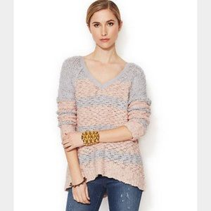 FREE PEOPLE SONGBIRD SHAGY STRIPPED SWEATER