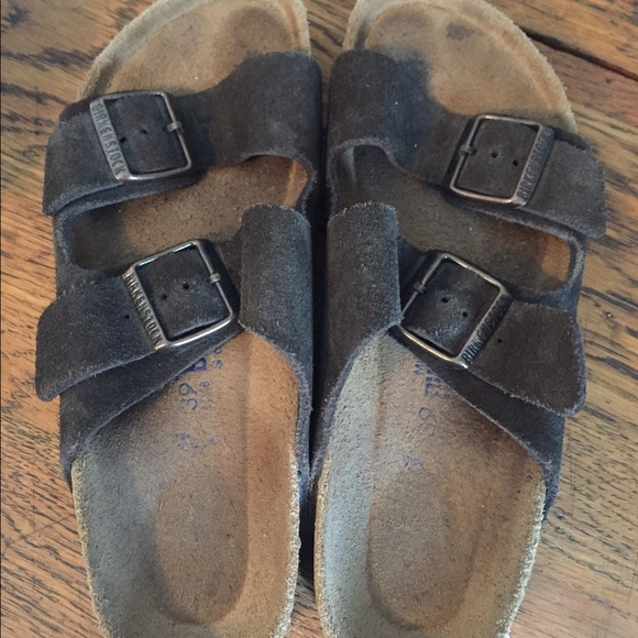 9bd73d3dd499 Birkenstock Shoes - Birkenstock Arizona suede mocha soft footbed 8