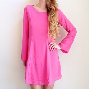 | new | pink long sleeve dress