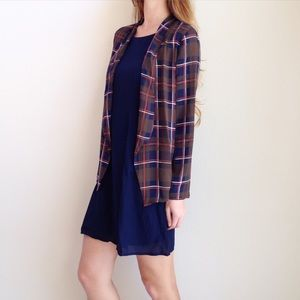 LAST ITEM | new | plaid blazer