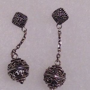 Sterling ball and chain earrings