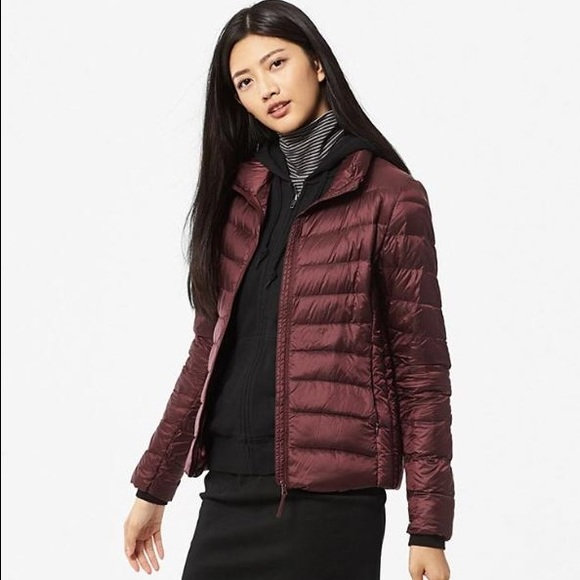 050293b913c UNIQLO Jackets & Coats | Ultra Light Down Jacket In Wine | Poshmark