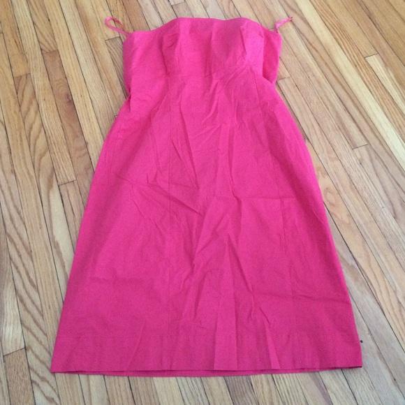 Pink GAP stretch strapless dress size 10 EUC