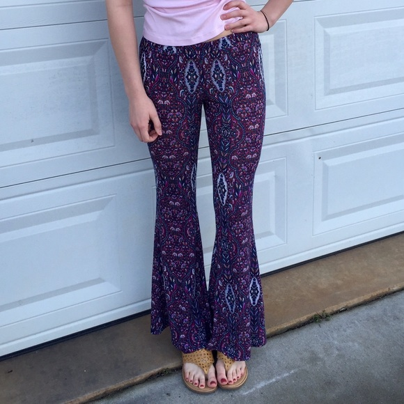 Pants Patterned Loose Flowy Poshmark Gorgeous Patterned Flowy Pants