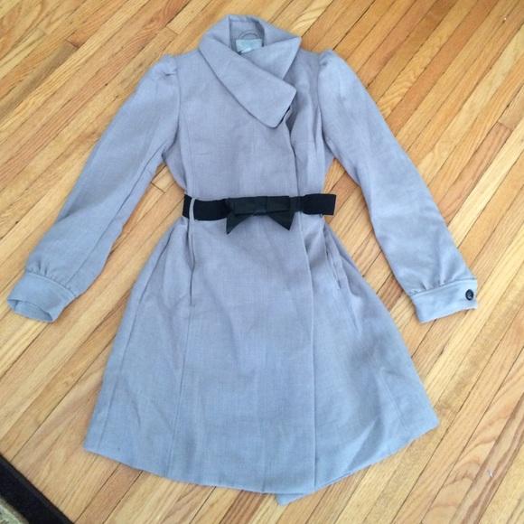 H&M grey coat jacket size 8 GUC