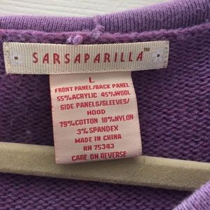 Sweaters - Sarsaparilla hoodie zip up sweater