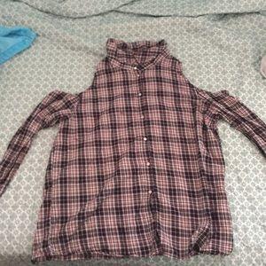 Cute h& m long sleeve cutout shirt