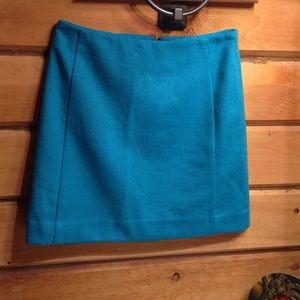 The Limited Aqua wool skirt