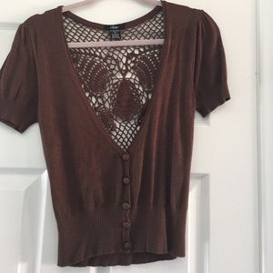 Crocheted butterfly back cardigan (must bundle)