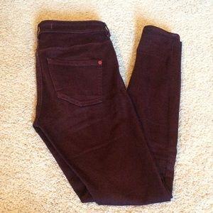 Bullhead plum skinny high waisted pants