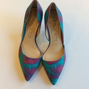 Sole Society Shoes - ✨PRICE REDUCED✨Jenn D'Orsay Pump in Blue Raspberry