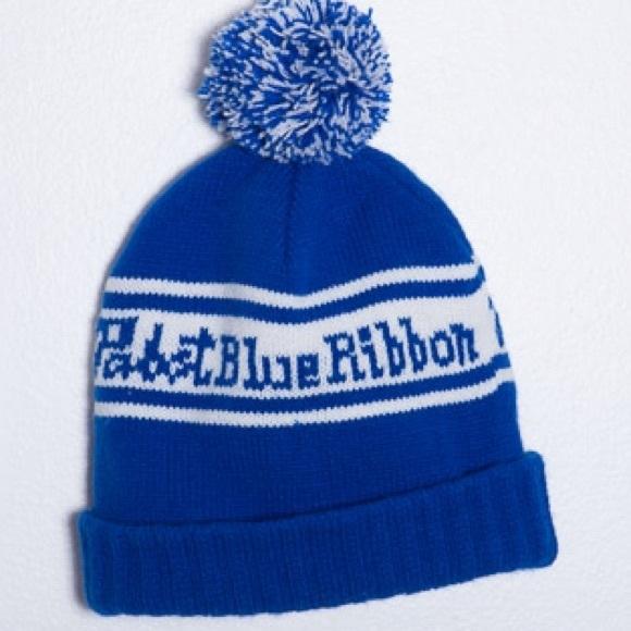 Accessories - Pabst Blue Ribbon-PBR Knit Hat w  Pompom cb737fee8aa