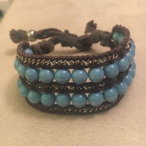 Jewelry - Turquoise and rope bracelet