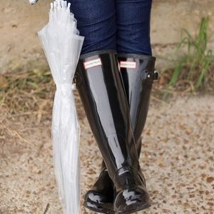Hunter Boots Tall Black Gloss