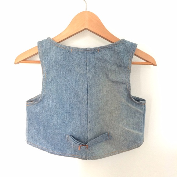 Urban Outfitters Jackets & Coats - Cropped Denim Vest ♻️ Vintage Upcycled