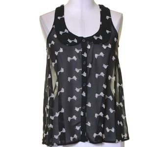 Xhilaration Tops - Black and white top