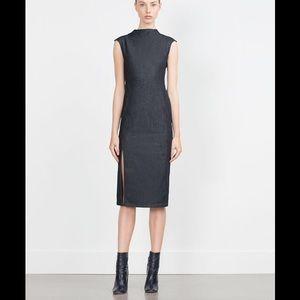 Zara Dresses & Skirts - ZARA DENIM MIDI
